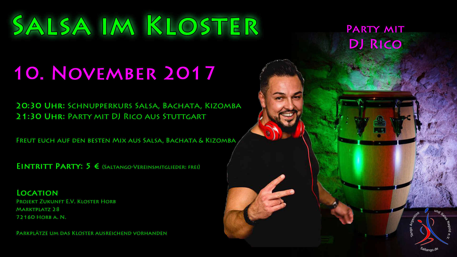 Salsaparty in Horb mit DJ Rico